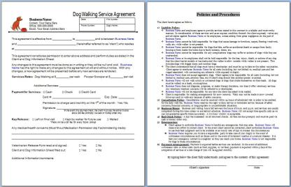 Dog Walking Service Agreement Contract