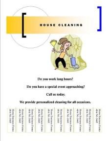 start your own small business with professional business forms and support house cleaning flyer 2