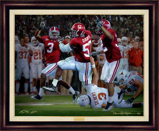 Alabama And Auburn Framed Prints The Pick Six By Daniel