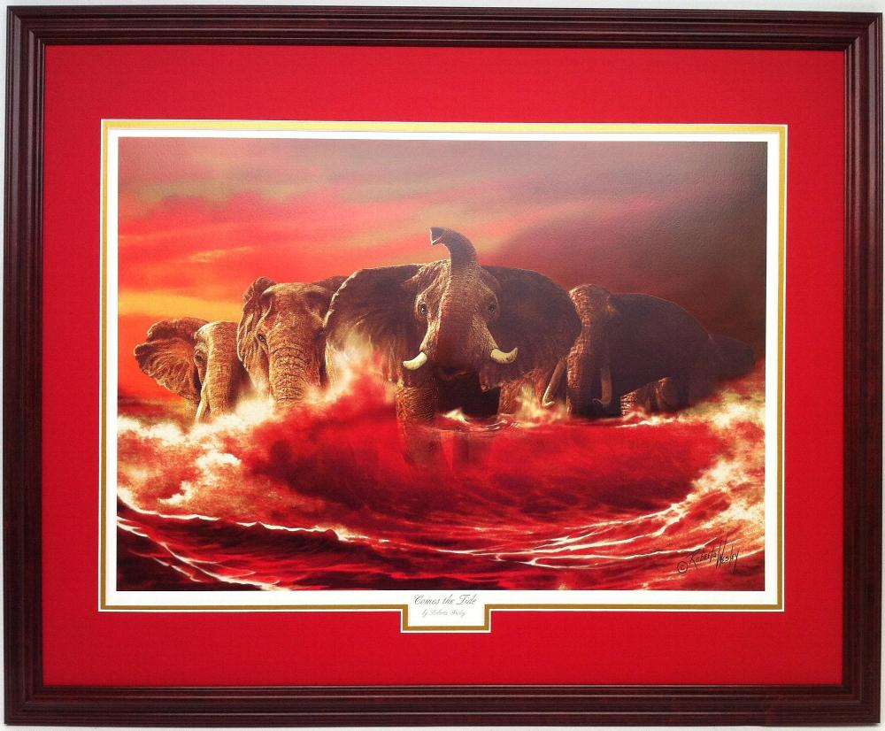 Alabama And Auburn Framed Prints Quot Comes The Tide