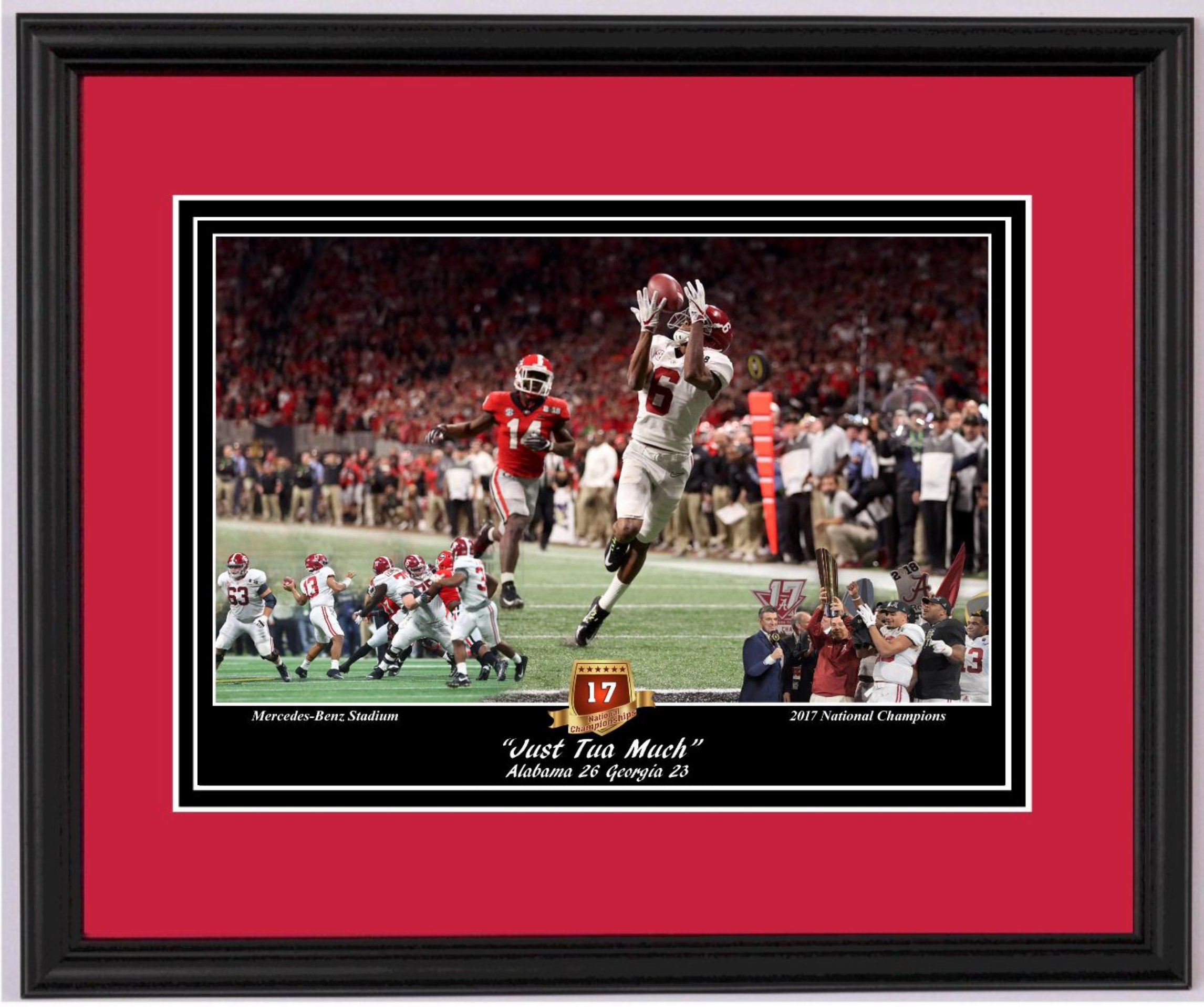 Alabama And Auburn Framed Prints Quot Just Tua Much Quot Alabama